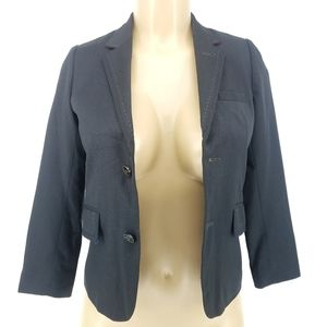 Ted Baker Black Notched Button Front Blazer